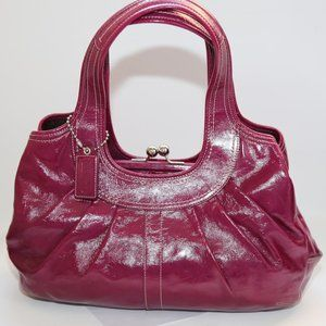 COACH Purple Berry Patent Leather Hobo Bag
